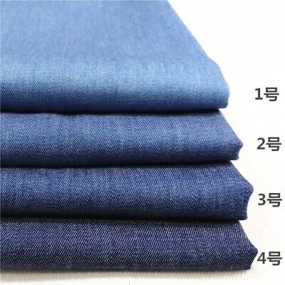 Lightweight Washed 4oz Denim Jeans Fabric 100% Cotton Canvas Cloth Material Blue