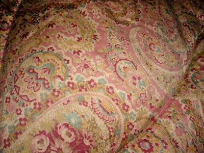 Lovely Pink Paisly Double Feather Eiderdown / Quilt Original Label Cameo