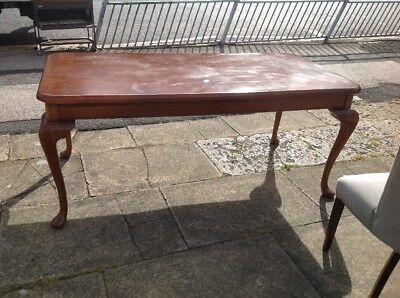 Large Walnut Mahogany Queen Ann Dining Table To Chalk Paint Restoration Project