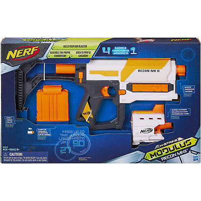 Nerf Modulus Recon MKII Blaster Kids Toy Configure 4 Different Blasters NEW! USA