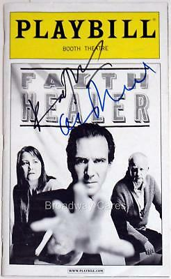 FAITH HEALER Ian McDiarmid & Ralph Fiennes Signed Opening Night Playbill