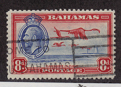 BAHAMAS Used Scott # 96 King George V, Flamingoes - pencil # (1 Stamp) -11