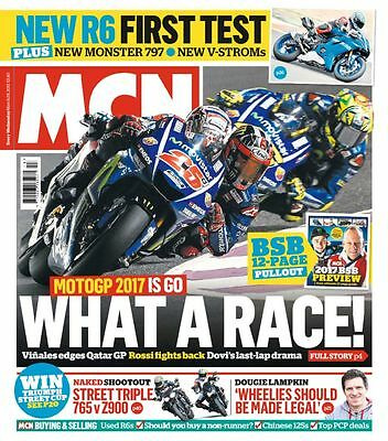 MCN : MOTORCYCLE NEWS - 29th March 2017  (BRAND NEW // SEALED)