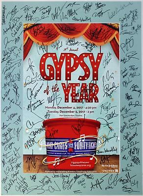 STARS Javier Munoz Will Roland Noah Galvin Signed GYPSY OF THE YEAR 2017 Poster