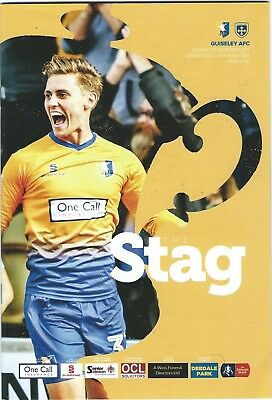 17/18 Mansfield Town v Guiseley AFC  Fac Dec 3rd