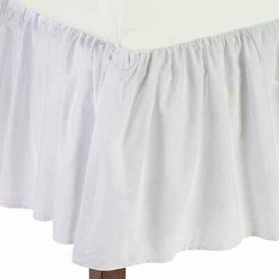American Baby Company 100% Cotton Percale Ruffled Crib Skirt, White, open pack
