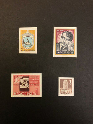 Hungary Scott No 1948,1949,1974,1983 MNH Imperforate Imperf Imp Stamps from 1969