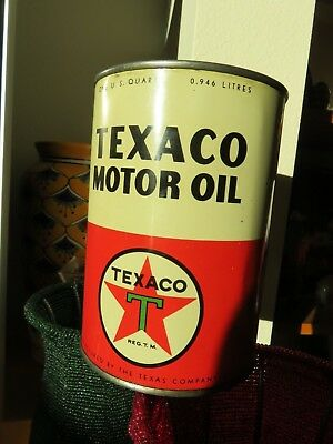 Vintage Texaco One Quart Oil Can
