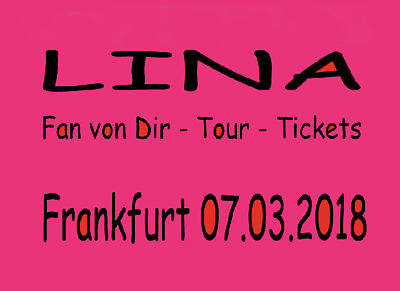 lina konzert tickets karten frankfurt lina. Black Bedroom Furniture Sets. Home Design Ideas