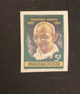 Hungary Scott No. 2005 MNH Imperforate Imperf Imp Gandhi