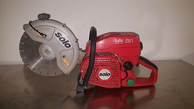 SOLO 881 iLube 81cc petrol concrete cutter Diamond disc cut off saw professional