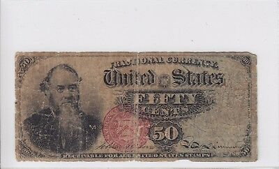 United States 50 Cents Fractional Currency Note 4th Issue 50c