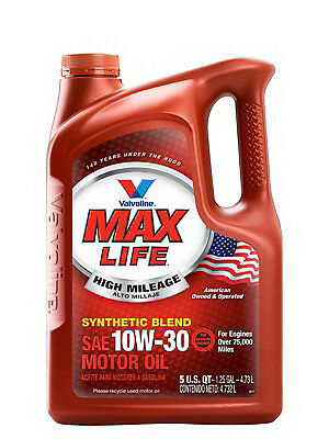 Maxlife Motor Oil, High Mileage, 10w30, 5 Qts., Valvoline, 779462