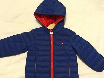 Joules Baby Boys Padded Cairn Packaway Jacket Blue 18-24 Months