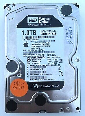 ➔ Hard drive: Apple Western Digital WD 1Tb Caviar Black 7200 SATA WD1001FALS