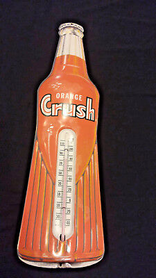 Orange Crush Thermometer Vintage 28 Inchs - Great Cond w/ intact thermometer
