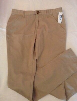 OLD NAVY Girls Skinny Fit Khaki School Uniform Pants Girls Sz. 14 Slim