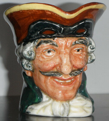 "Royal Doulton early version DICK TURPIN 9cm 3.5"" Character Jug"
