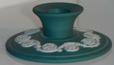Wedgwood Dark Green Jasperware Candlestick