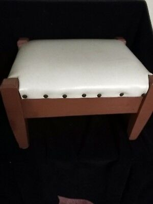 hand crafted foot stool with a little secret