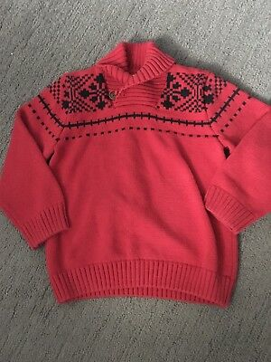 gymboree dressed up holiday Christmas Holiday red pullover knit sweater boy