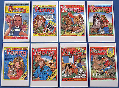Eight Penny Girl Comics Postcards Featuring 1979 Covers Mint