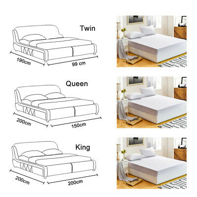 Waterproof Bedspread Antiskid Mattress Pad Mat Protector Bed Fitted Sheet Cover