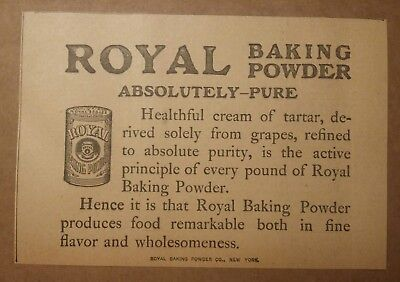 1904 Royal Baking Powder Ad New York Absolutely Pure