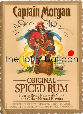 Don Maitz Signed Captain Morgan Spiced Rum Label - Pirate Art Autograph