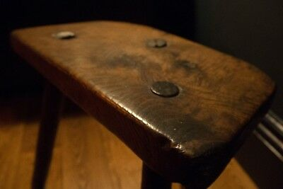 Elm and Ash Cutlers Stool late 18th early 19th century perfect condition