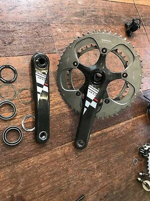 Sram Red crank set + BB30 bottom bracket. 10 speed.   175mm.    39/53