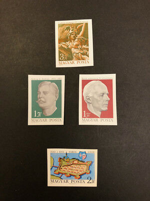 Hungary Scott No 2062,2063-4,2065 MNH Imperforate Imperf Imp Stamps from 1971