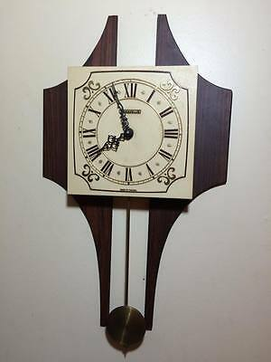 Caravelle mid century modern wall clock made in Canada