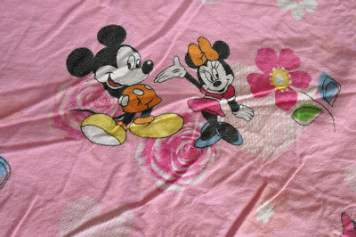 rare DISNEY Vintage Minnie Reversible Duvet Cover Mickey and Minnie set of bed