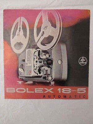 Bolex 18-5 Auto Projector Sales Brochure Booklet - English  Red - Used