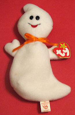 "TY Beanie Babies ""SPOOKY"" the HALLOWEEN GHOST MWMTs! RETIRED LONG AGO! MUST HAVE"