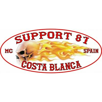 49 Hells Angels aufkleber Support 81 Costa Blanca Flames