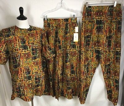 Vtg 70S Prophecy Top Skirt Pants Fits Modern M Tribal Dress Some NWT USA Made