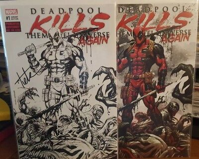 Deadpool Kills The Marvel Universe Again #1 Tyler Kirkham Set *Signed*