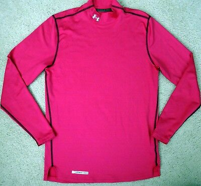 Under Armour womens coldgear fitted pink long sleeve shirt MD medium
