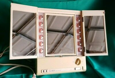Vintage Clairol True-To-Light VIII LM-8 Lighted Makeup Mirror Plug Outlet MINT