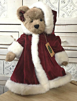 """Christmas Boyd's Bears 16"""" Justina Laurenthal Archive Collection, RARE"""