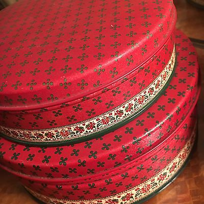Pair Of 2 Pretty Potpourri Press Collectable Tins Red Jewellery Box Storage