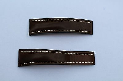 Breitling 24mm Brown Leather Deployment Strap 444x