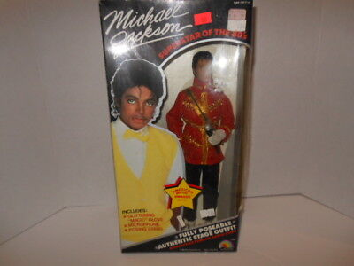 """Michael Jackson Doll In Box """"American Music Awards"""" Outfit"""