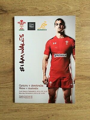Wales V Austrailia Official Rugby Programme 2014