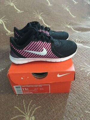 Girls Size 11C Black/Pink NIKE FREE RN Sneakers $65