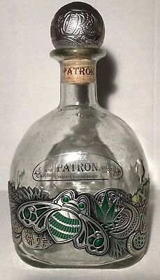 Patron Silver 2017 Tequila 1L LIMITED EDITION BEE BOTTLE EMPTY IN GIFT BAG