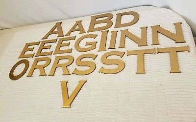 ARCHITECTURAL Marquee Sign Letters SOLID BRASS ~ Huge Lot Almost 20lbs ~ 20pcs!