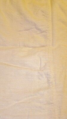 """1800s Hand Woven Linsey-Woolsey Coverlet Cream Colored Handsewn Antique 78""""x61"""""""